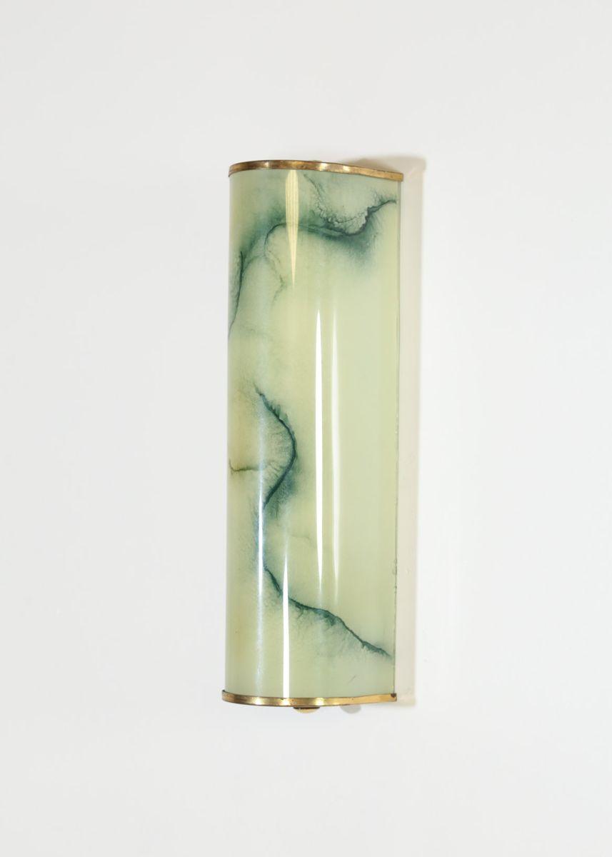 Vintage Marmor Glas Wandlampe