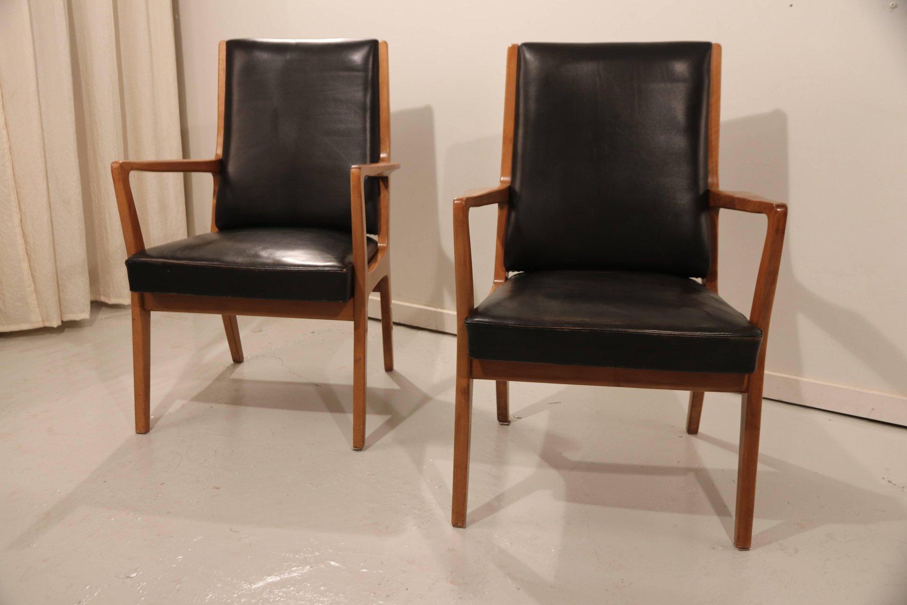 Sedie Vintage Pelle : Sedie vintage in pelle set di 2 in vendita su pamono