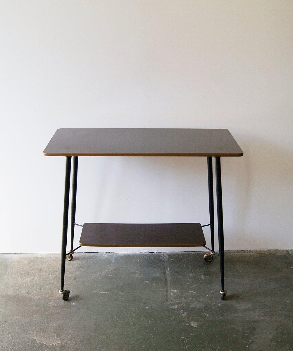 deutscher tisch auf rollen 1960er bei pamono kaufen. Black Bedroom Furniture Sets. Home Design Ideas