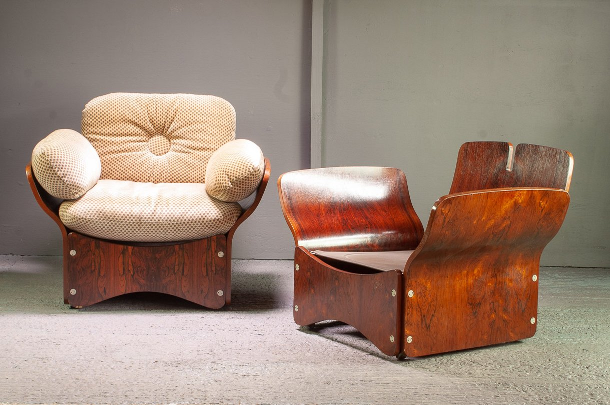 Pica Sessel aus Palisander von Max Clendinning für Race Furniture, 196...