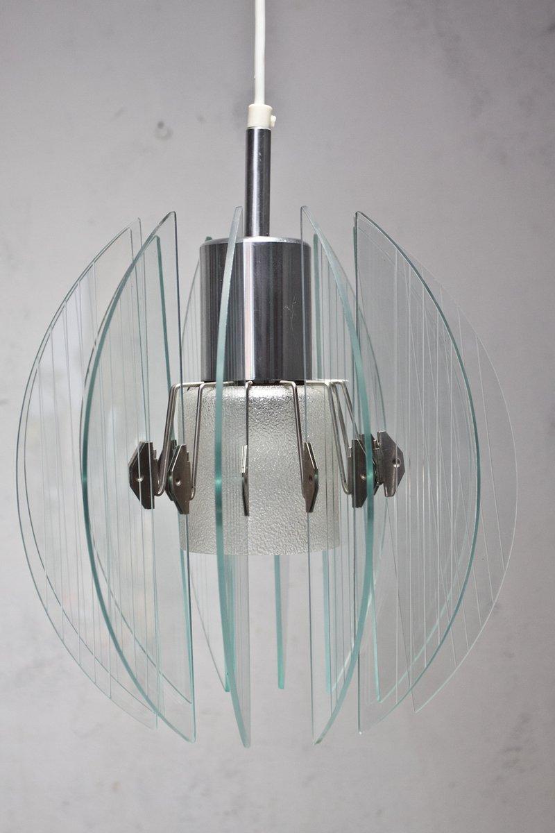 Deckenlampe aus Glas, 1980er
