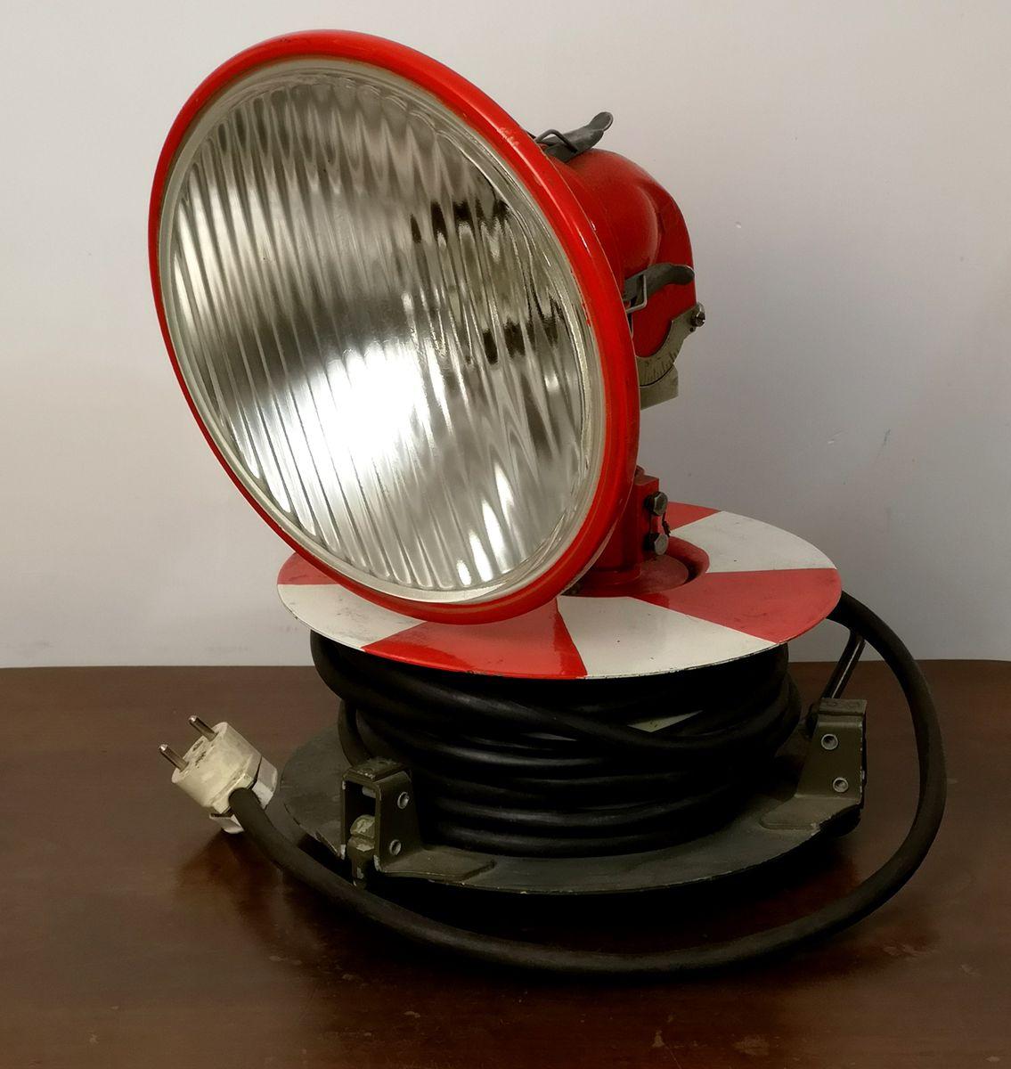Vintage Feuerwehr Scheinwerfer von Jesla
