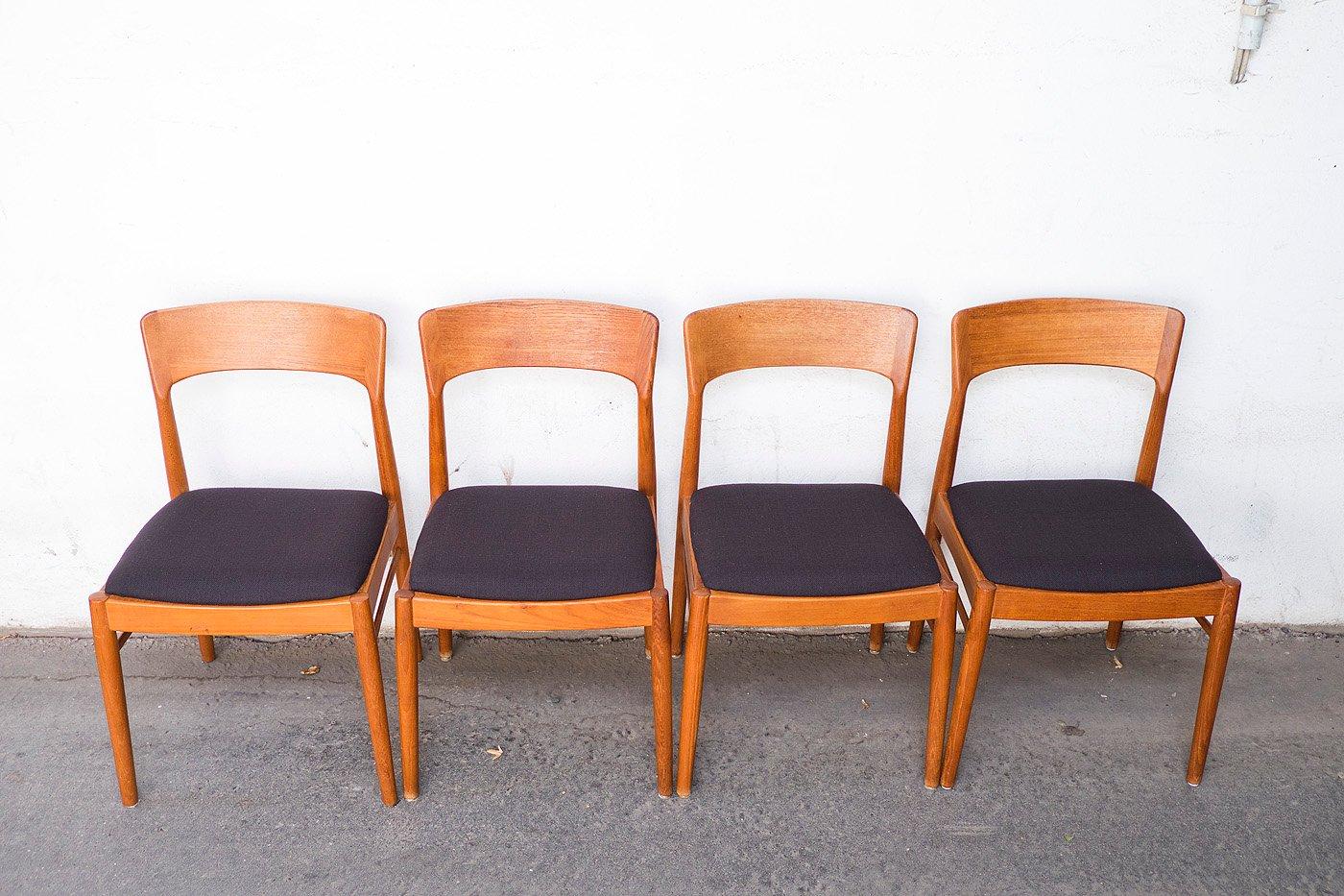d nische teak st hle von kai kristiansen f r korup stolefabrik 1960er 4er set bei pamono kaufen. Black Bedroom Furniture Sets. Home Design Ideas