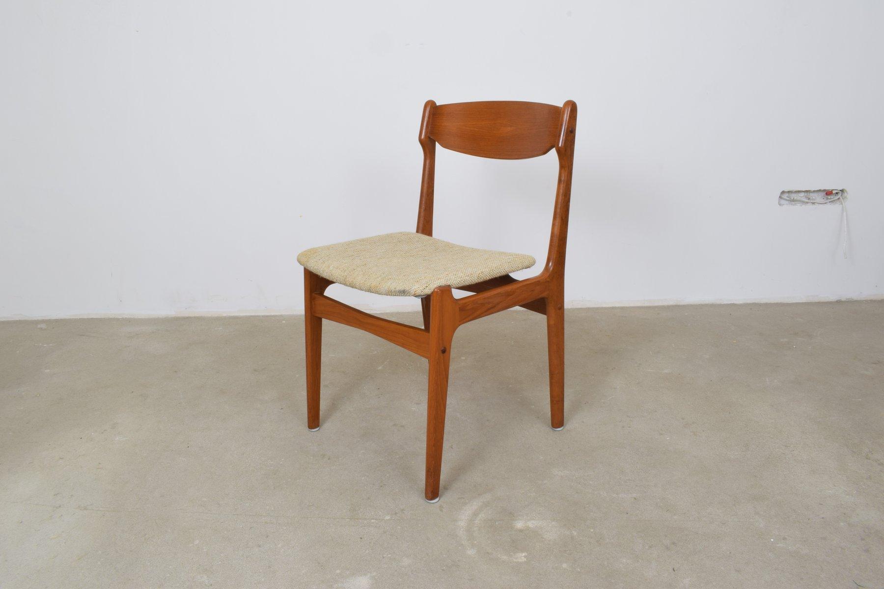 Sedie da pranzo in teak danimarca anni 60 set di 4 in vendita su