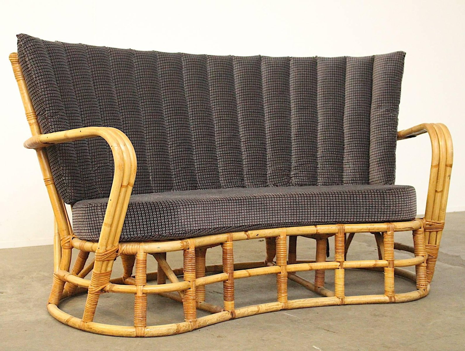 Vintage Rattan Amp Bamboo Sofa For Sale At Pamono