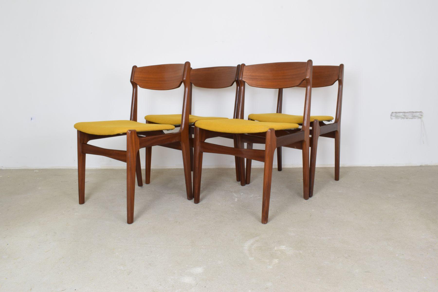 vintage teak esszimmerst hle 4er set bei pamono kaufen. Black Bedroom Furniture Sets. Home Design Ideas