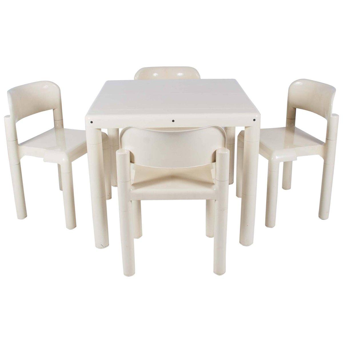 Esstisch & 4 Stühle von Eero Aarnio für UPO, 1970er