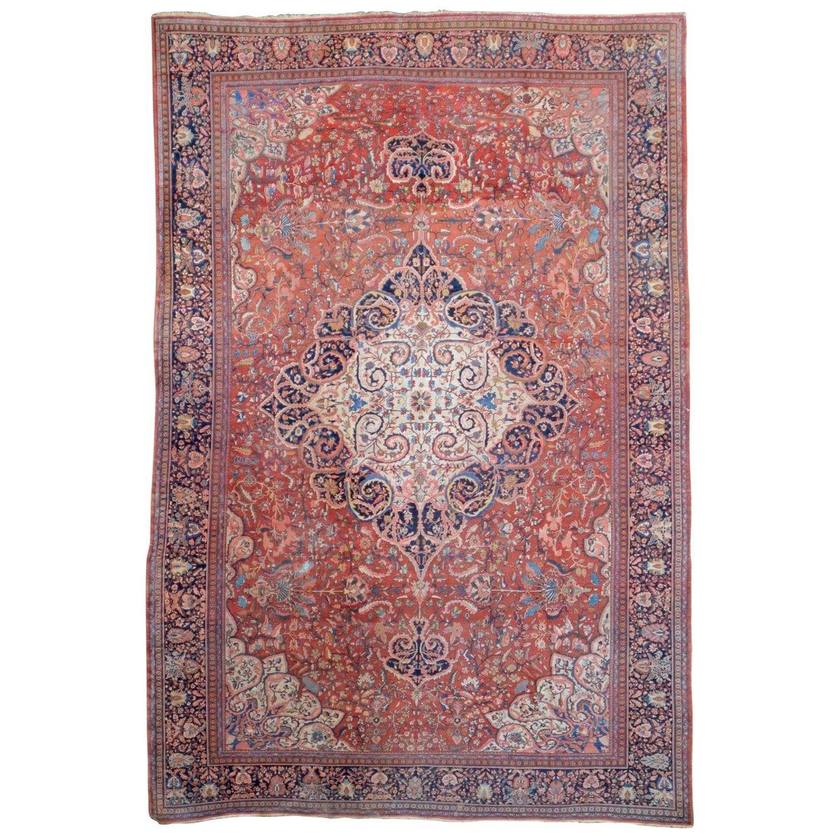 gro er antiker nah stlicher teppich bei pamono kaufen. Black Bedroom Furniture Sets. Home Design Ideas