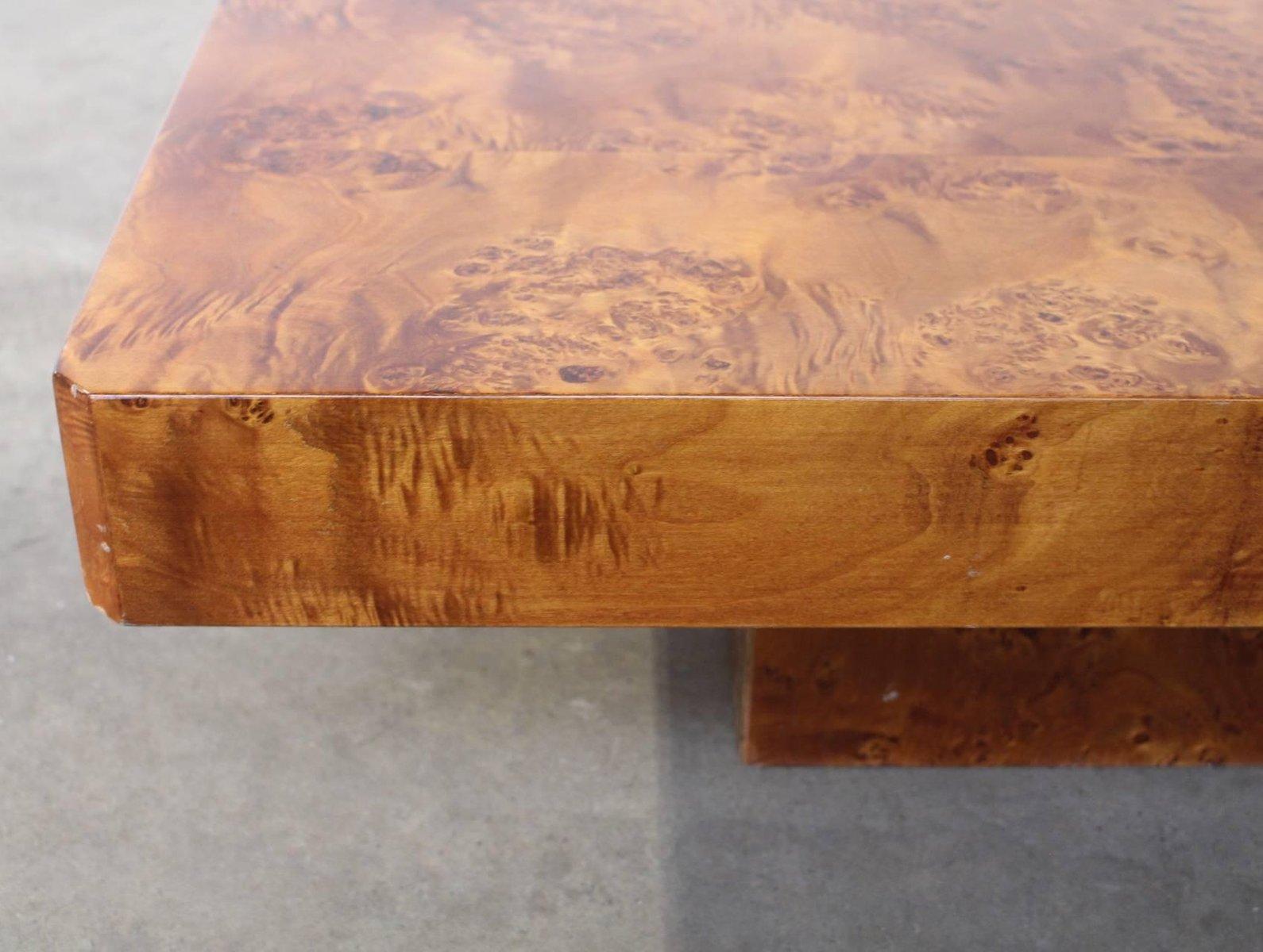 vintage french burl wood coffee table for sale at pamono rh pamono co uk burl wood waterfall coffee table burl wood coffee table base