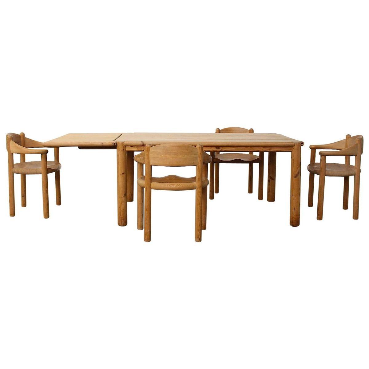 Vintage Pinienholz Esszimmer Set von Rainer Daumiller