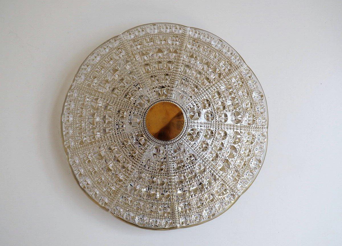 Deckenlampe aus Glas von Carl Fagerlund für Lyfa & Orrefors, 1960er