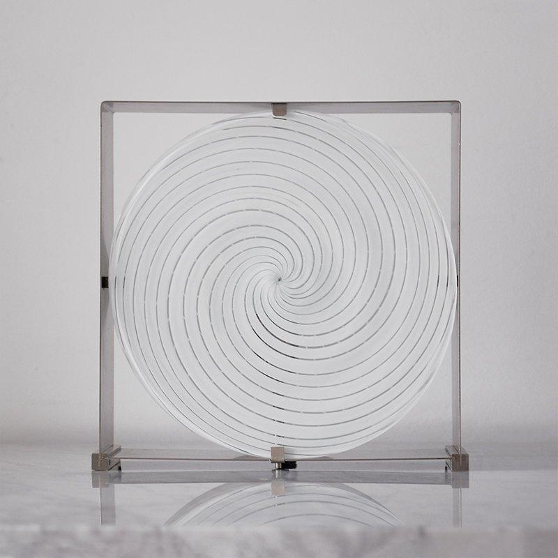 Spiral Tischlampe von Carlo Nason für Mazzega, 1960er
