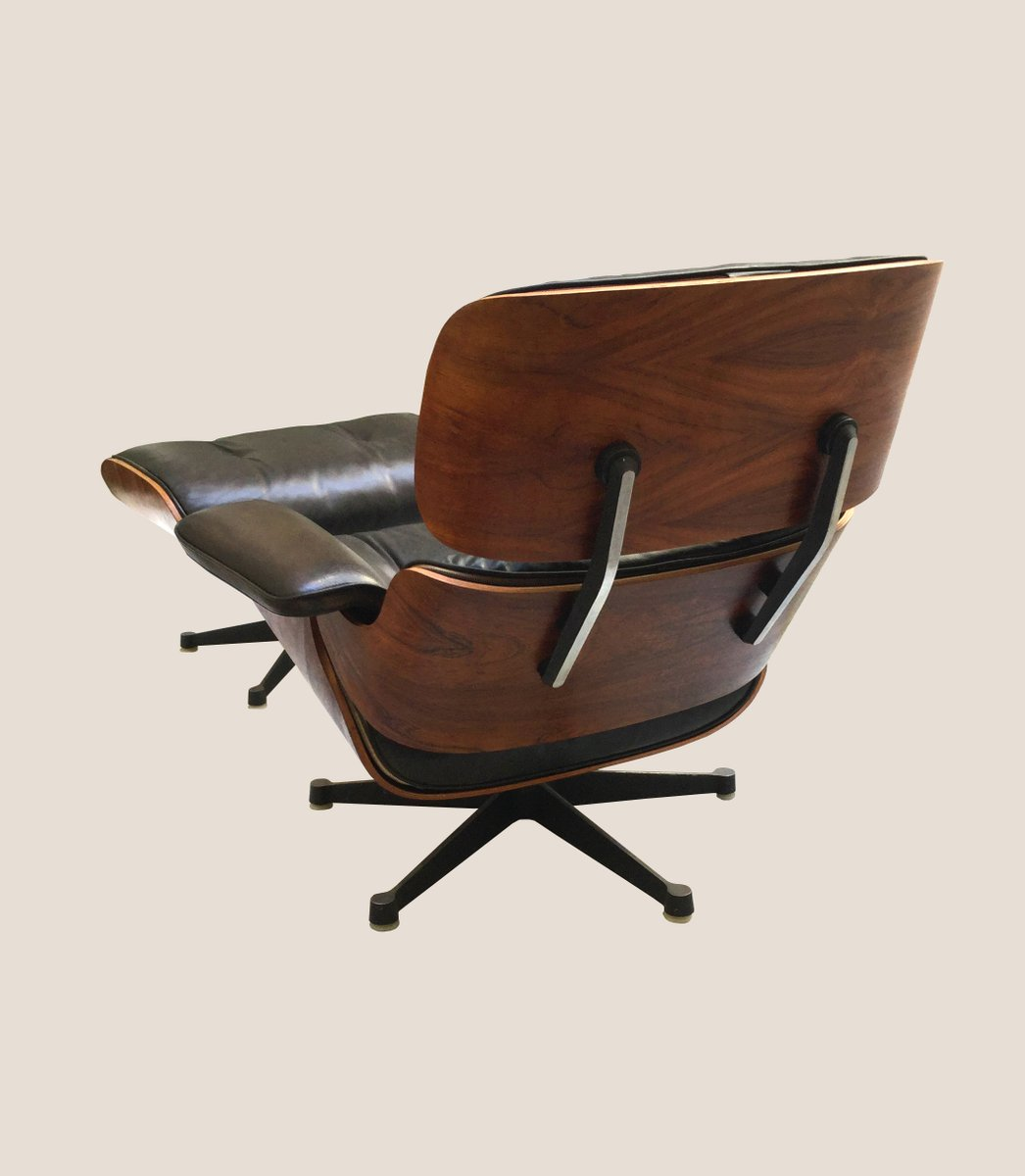 vintage lounge chair and ottoman by charles ray eames. Black Bedroom Furniture Sets. Home Design Ideas