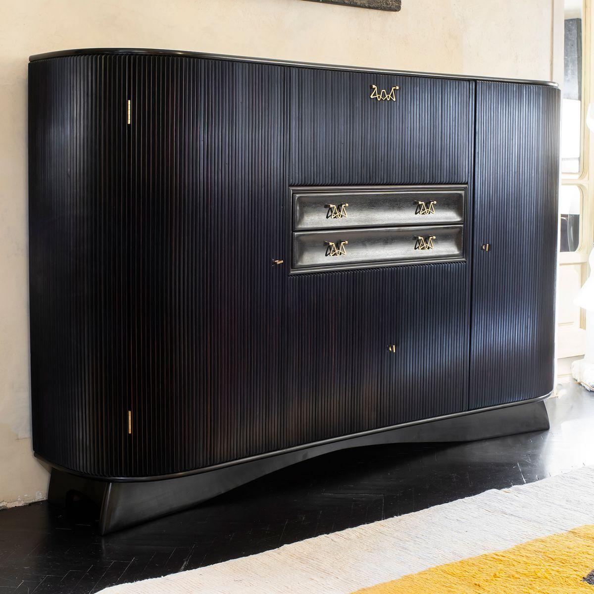 Dark Mahogany Kitchen Cabinets: Dark Mahogany Tall Cabinet By Osvaldo Borsani, 1950s For