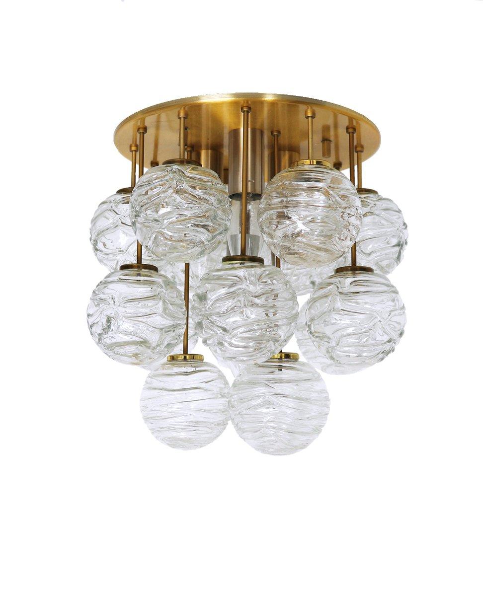 Kugelförmige Deckenlampe aus Muranoglas von Doria Leuchten, 1960er