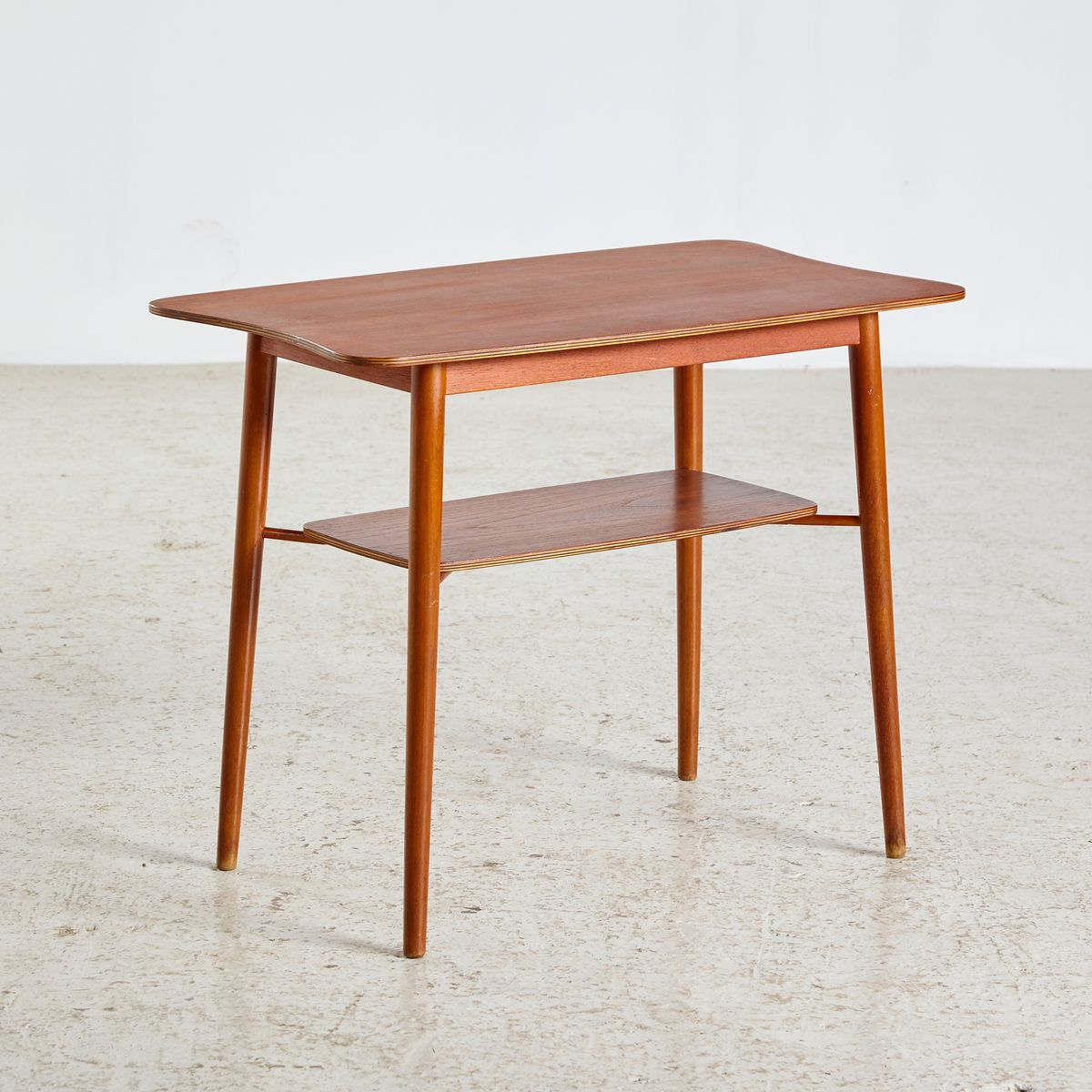Danish Teak Coffee Table With Curved Top, 1960s