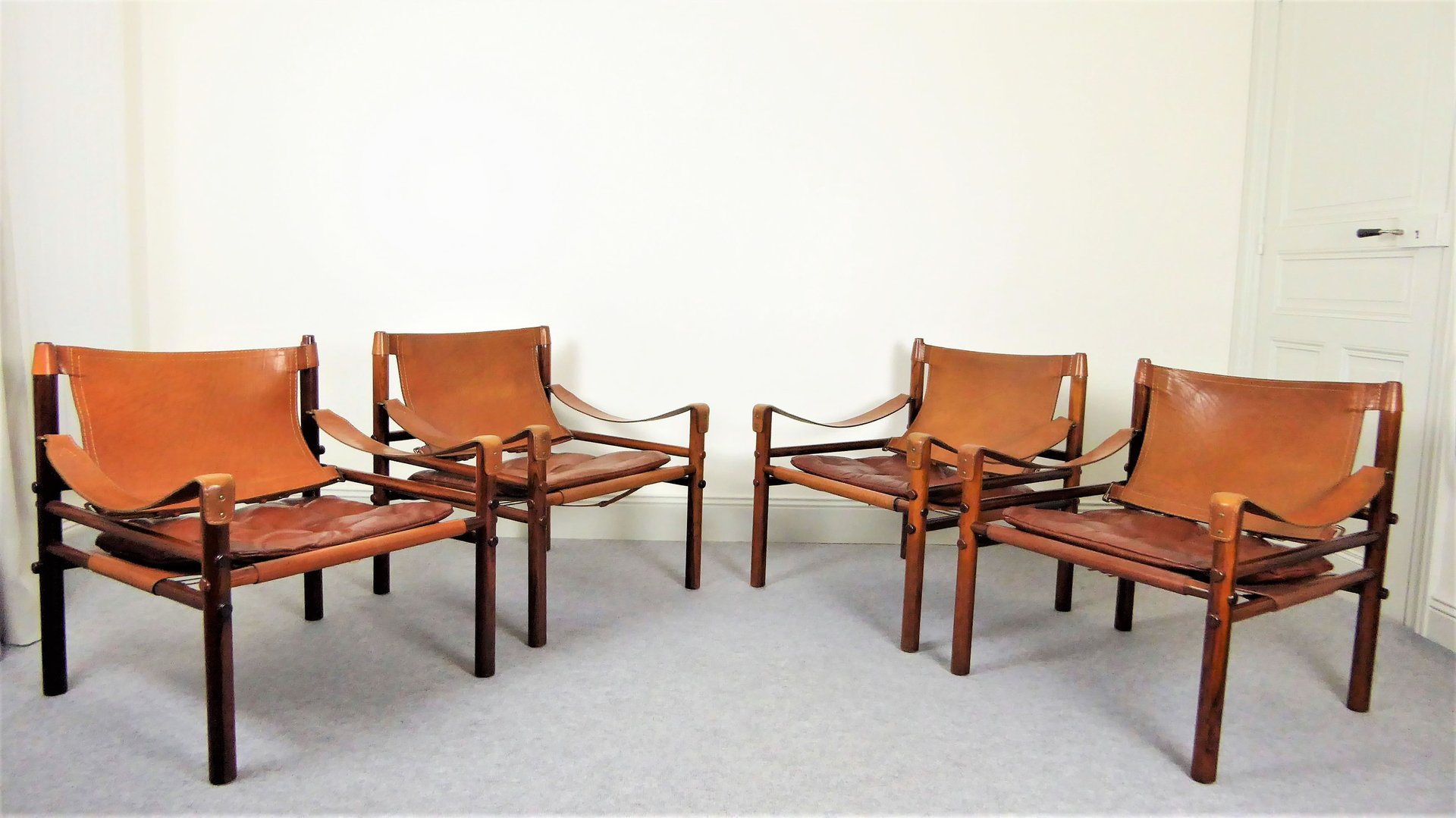 Sirocco Stühle von Arne Norell, 1960er, 4er Set
