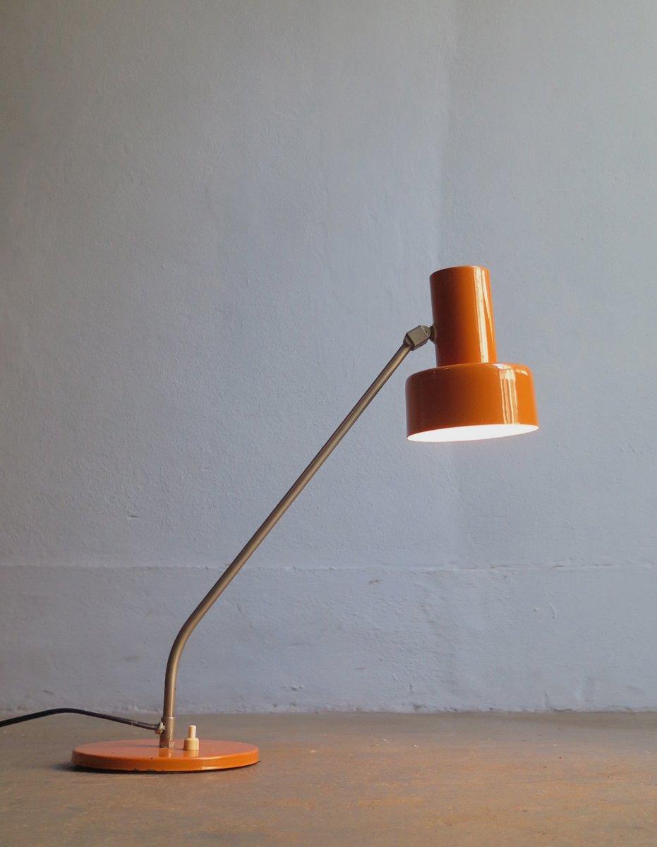 Mid-Century Schreibtischlampe in Orange