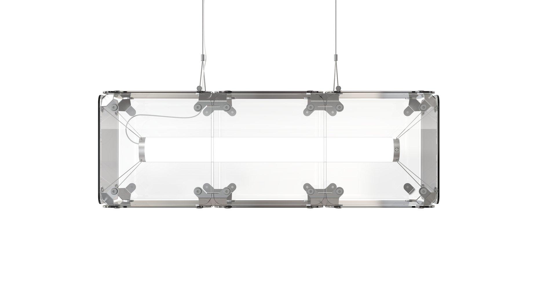 Hyperqube Hängelampe aus Glas mit 3 Modulen & verstellbaren LEDs von F...