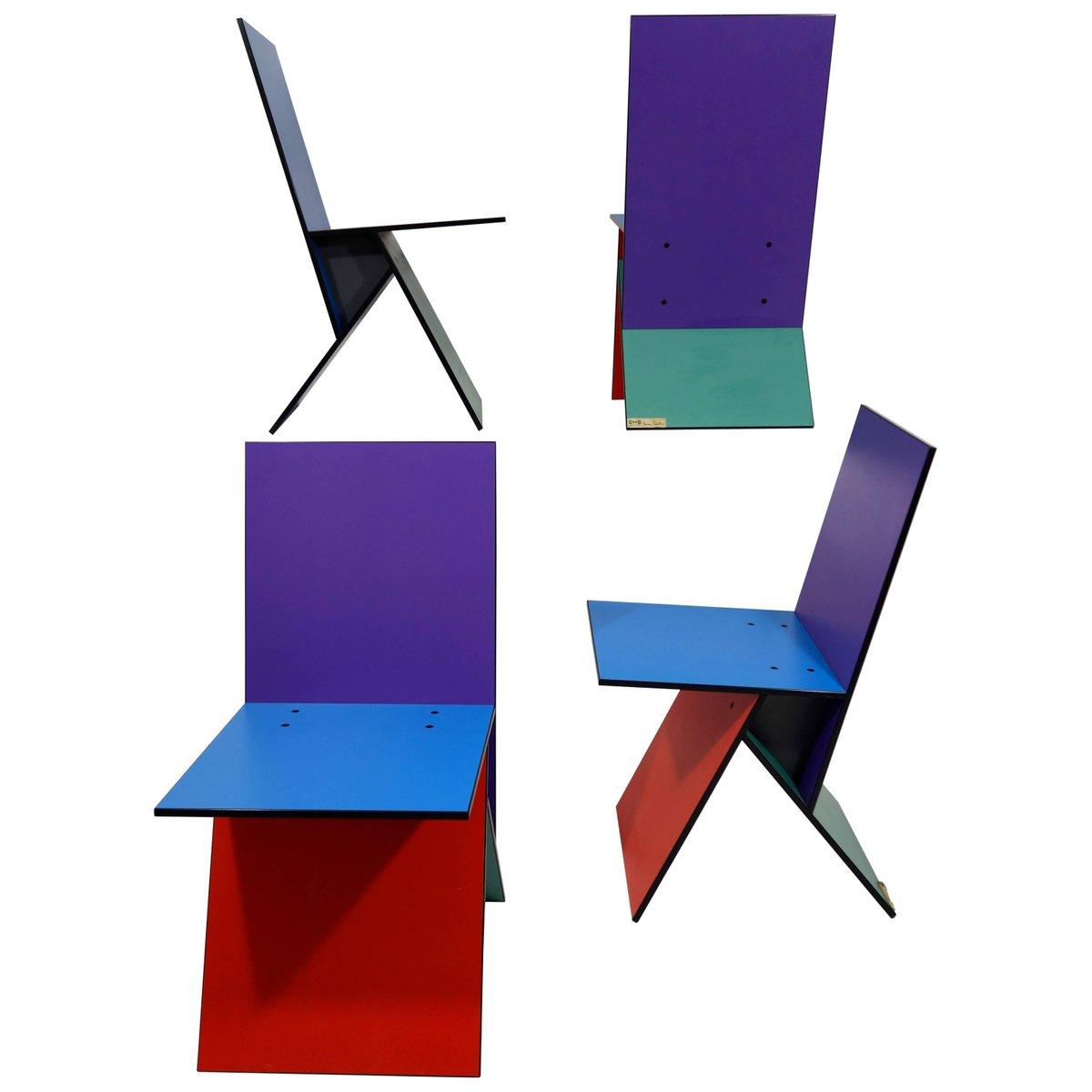 Vilbert Stühle Von Verner Panton Für Ikea 1993 4er Set 1