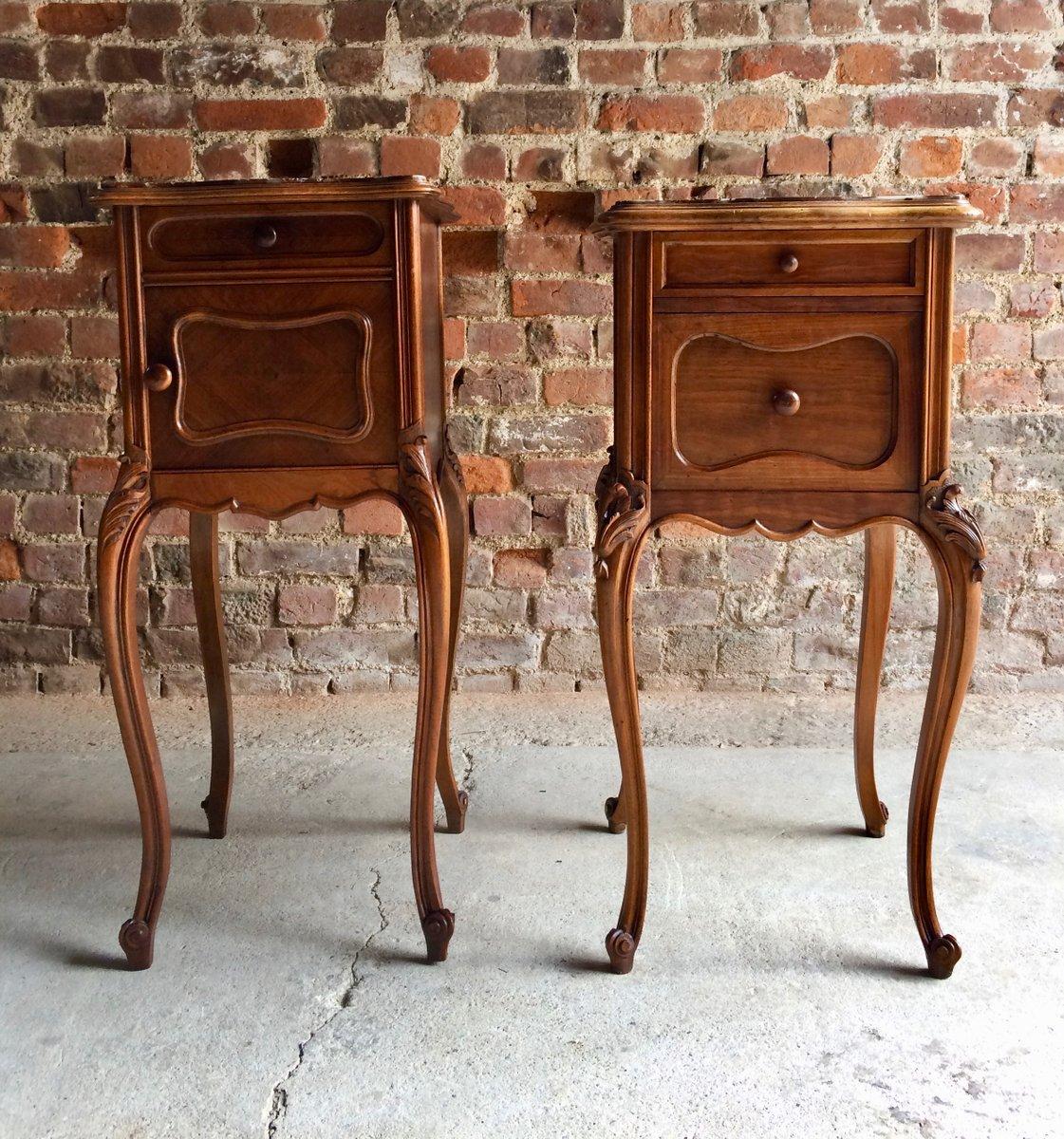 Antique French Bedside Tables Set Of 2