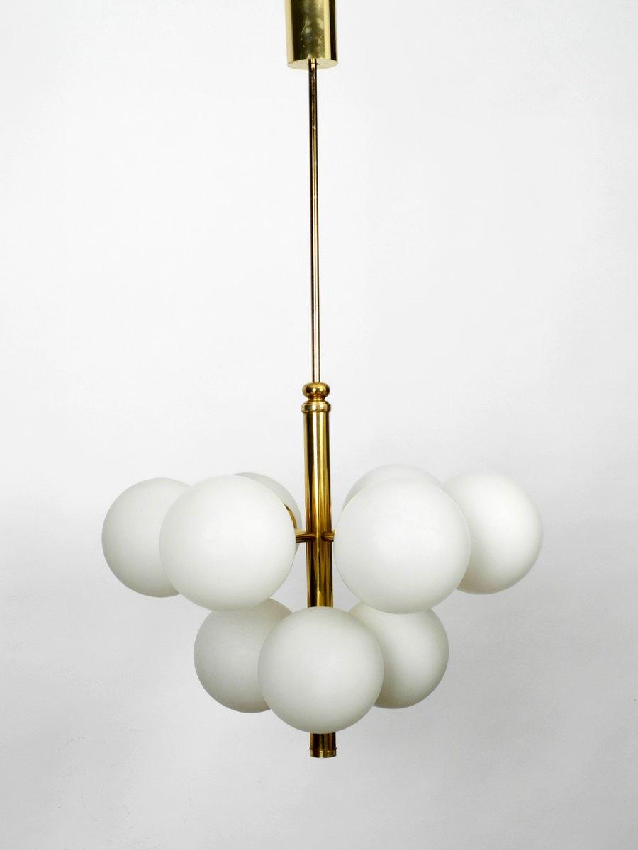 Wundervoll Messing Deckenlampe Galerie Von Italienische Vintage Aus Mit 9 Glasschirmen