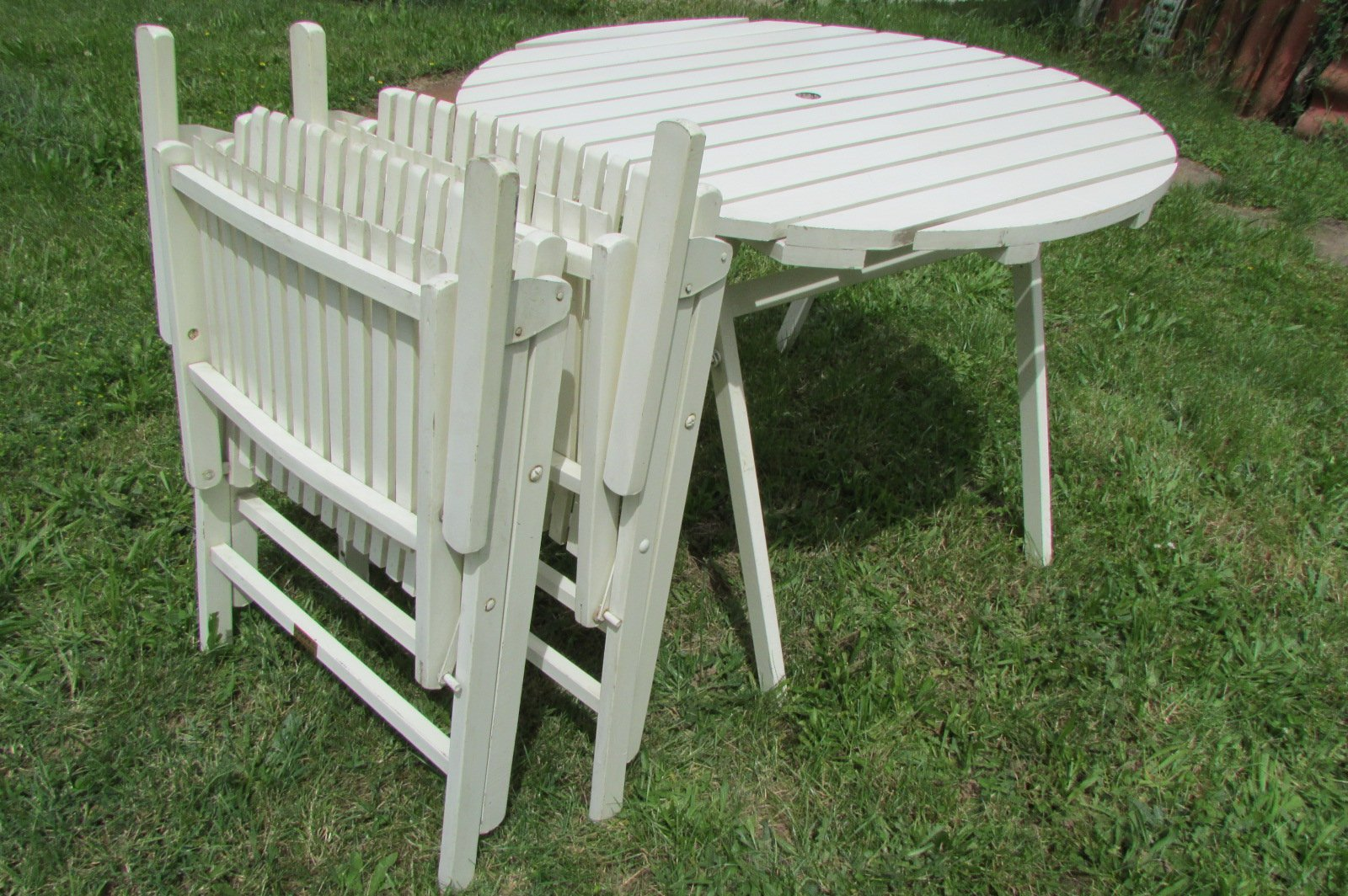 Klappbarer Gartentisch Und Stuhle Von Gleyzes 1950er Bei Pamono Kaufen