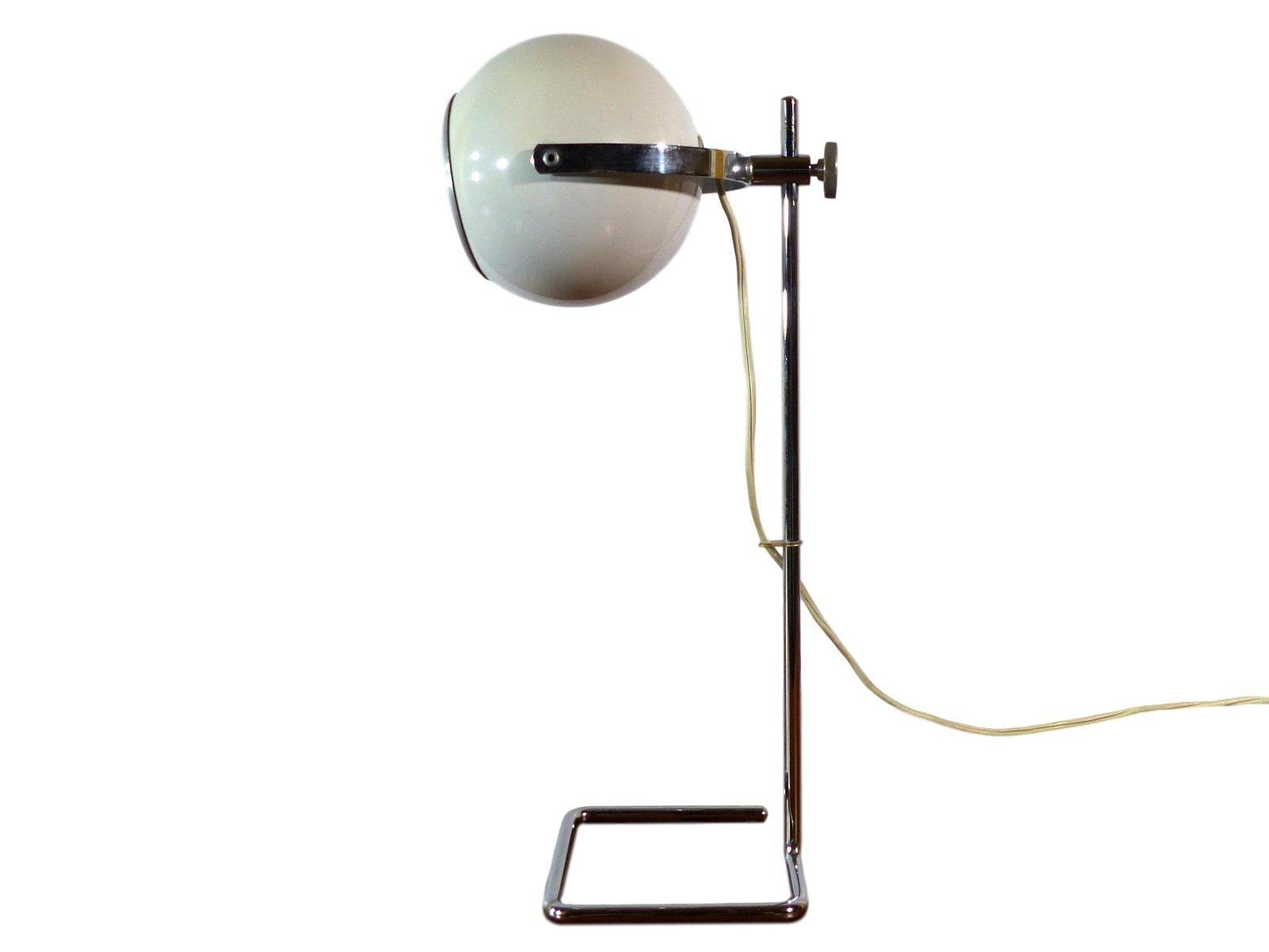 Kugelförmige weiße Lampe, 1970er