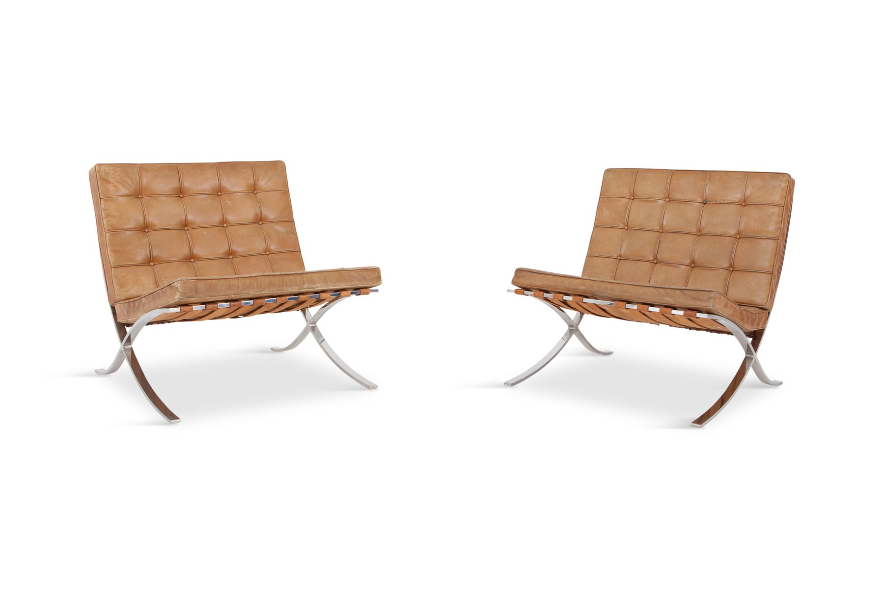 Barcelona Lounge Chairs By Ludwig Mies Van Der Rohe For Knoll 1960s