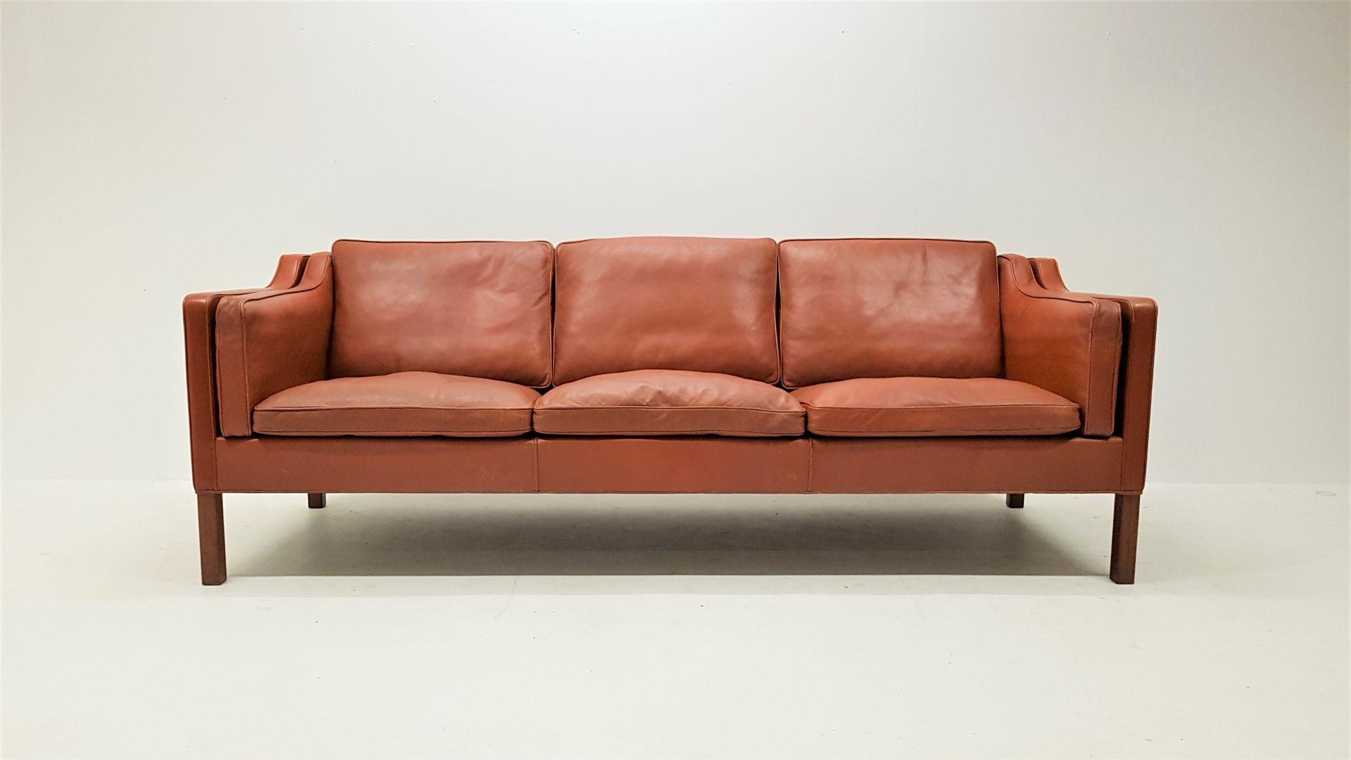 Modell 2213 3-Sitzer Sofa von Børge Mogensen für Fredericia, 1960er