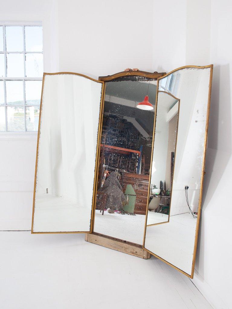 Grand Miroir Triptyque de Miroir Brot de Paris, 1920s en vente sur ...