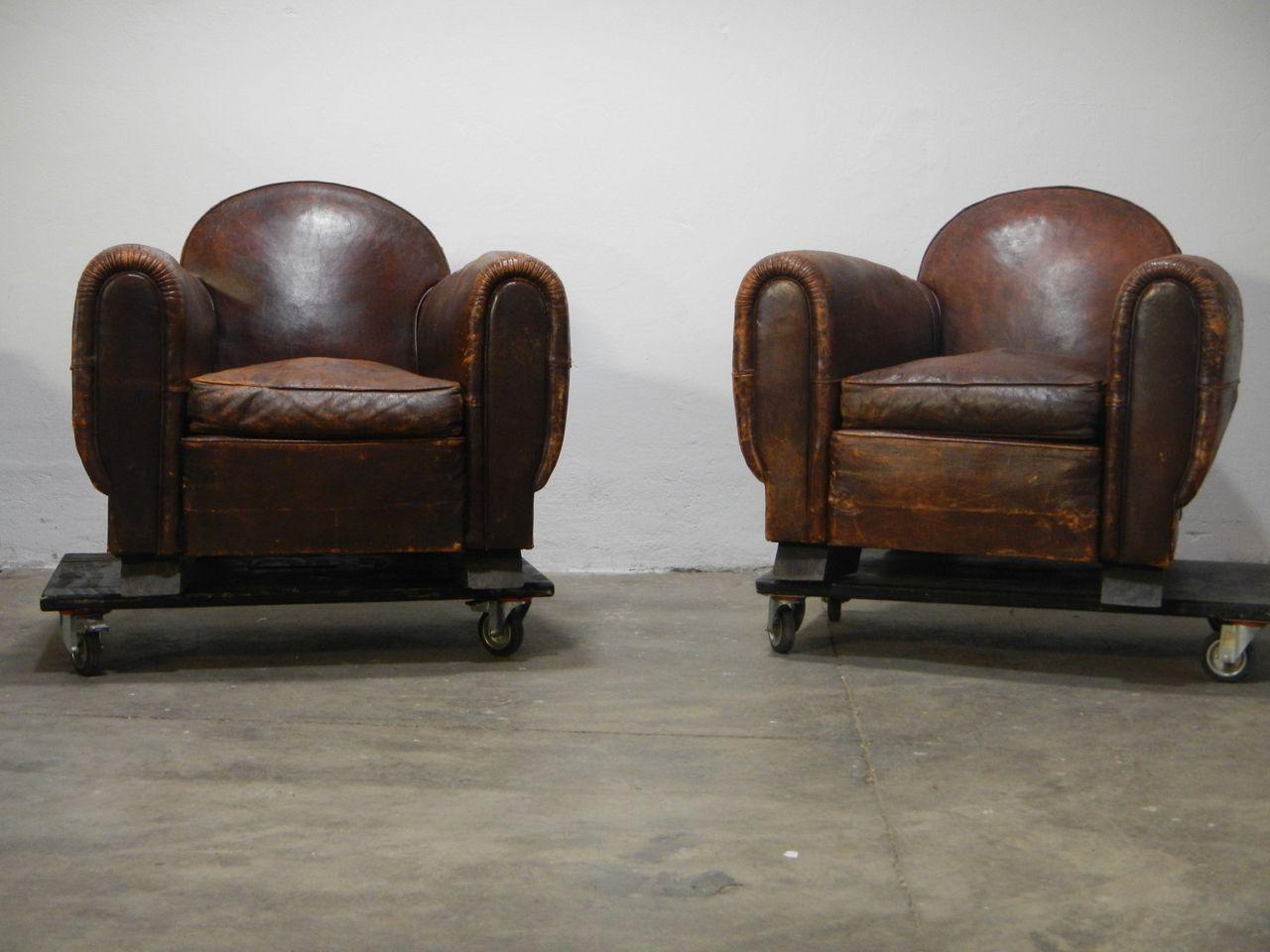 Vintage Ledersessel , 2er Set