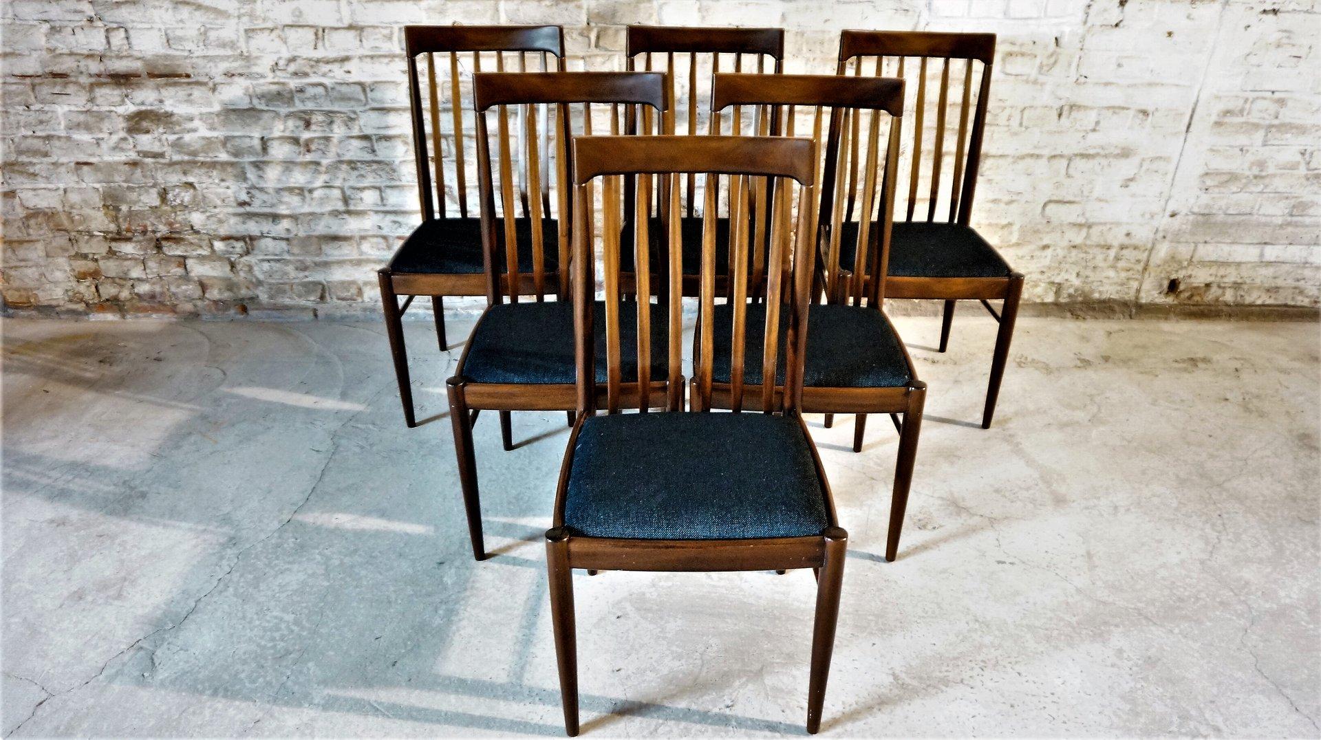 chaises vintage scandinaves par hw klein pour bramin set de 6 - Chaise Vintage Scandinave