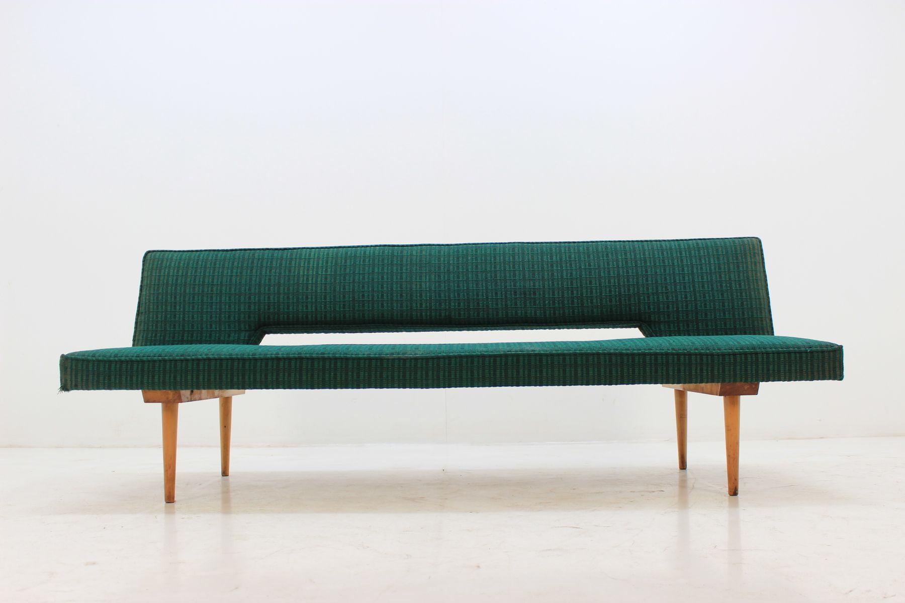 Tagesbett von Miroslav Navrátil, 1960er | Schlafzimmer > Schlafsofas > Schlafsofas & Polsterliegen | Grün | Holz