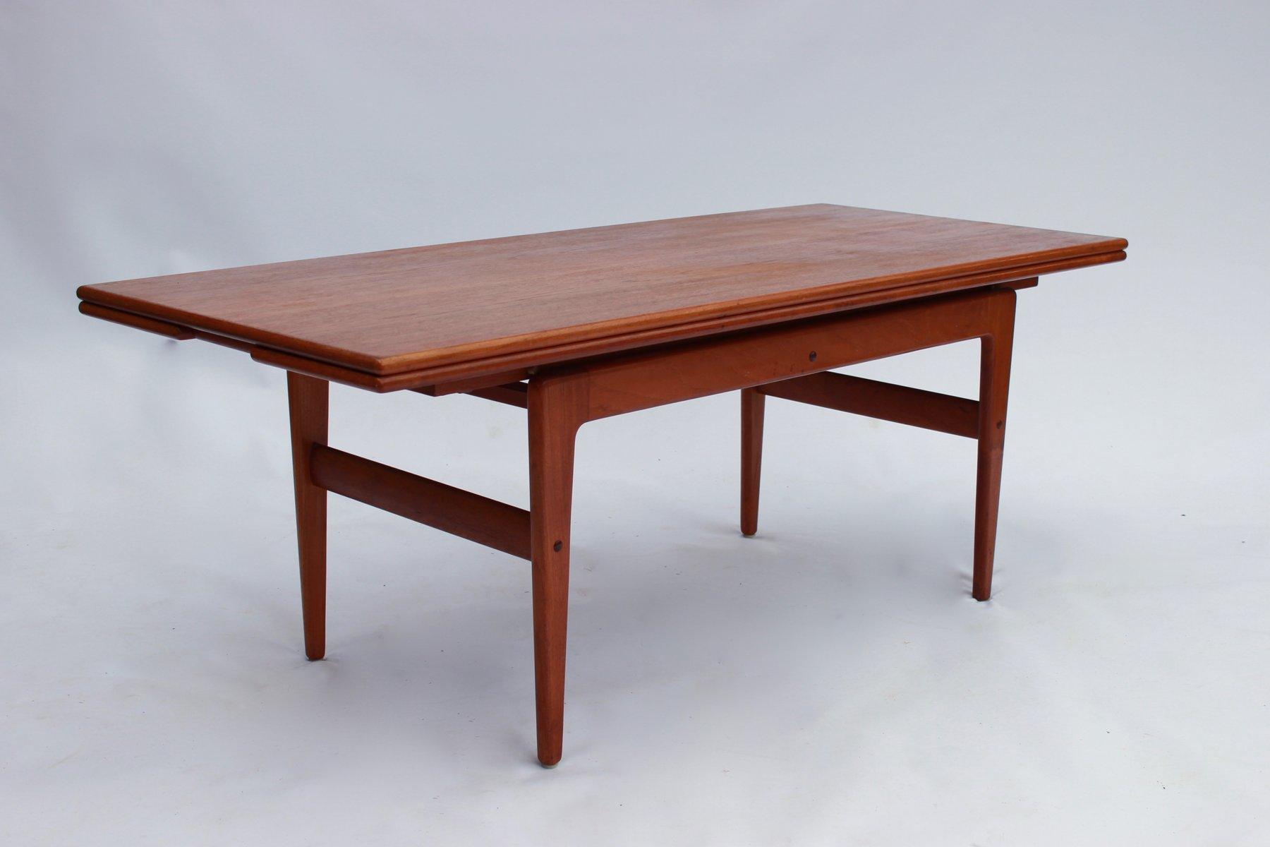 Mesa de comedor o de centro regulable de teca, años 60 en venta en ...