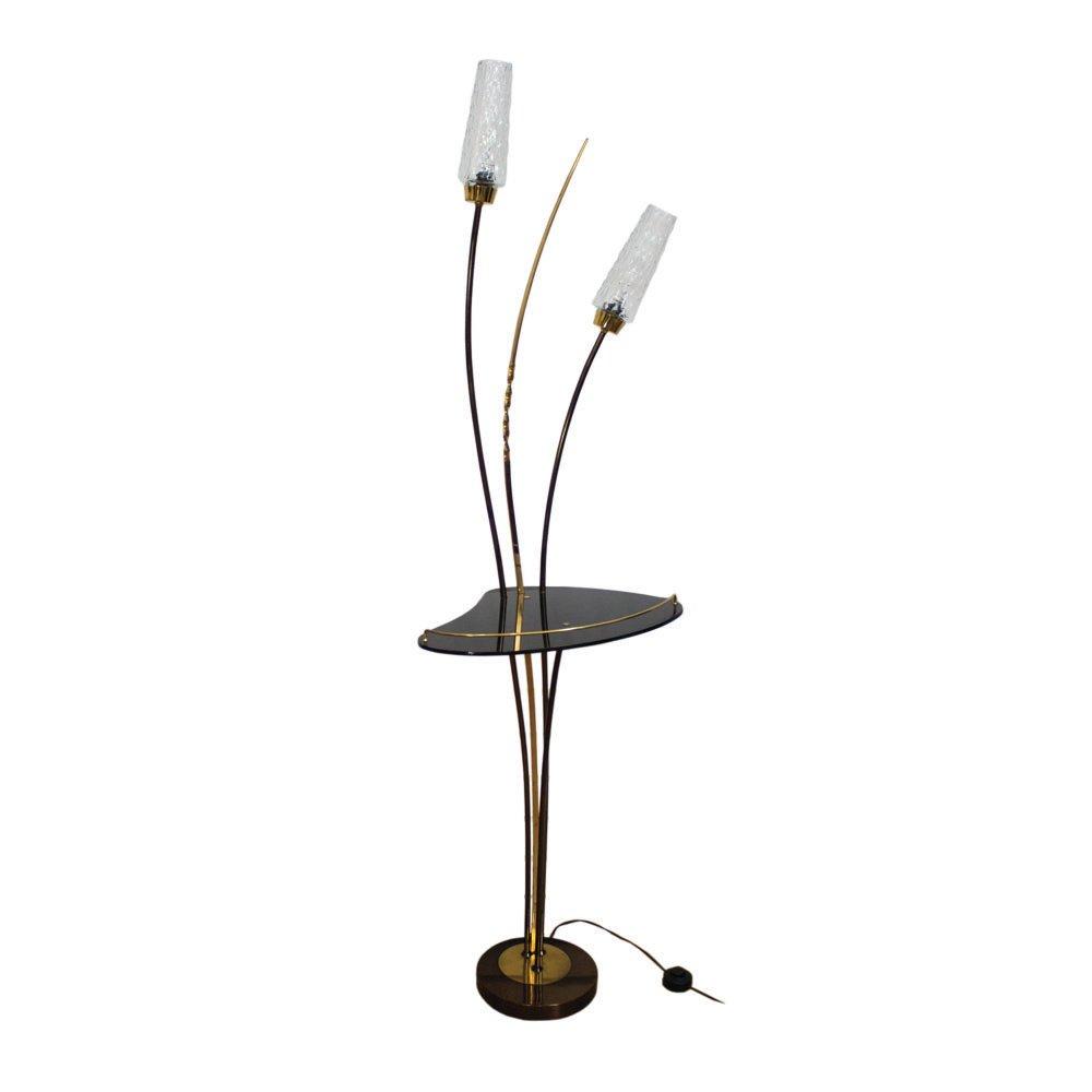 Italienische Messing-Stehlampe, 1950er