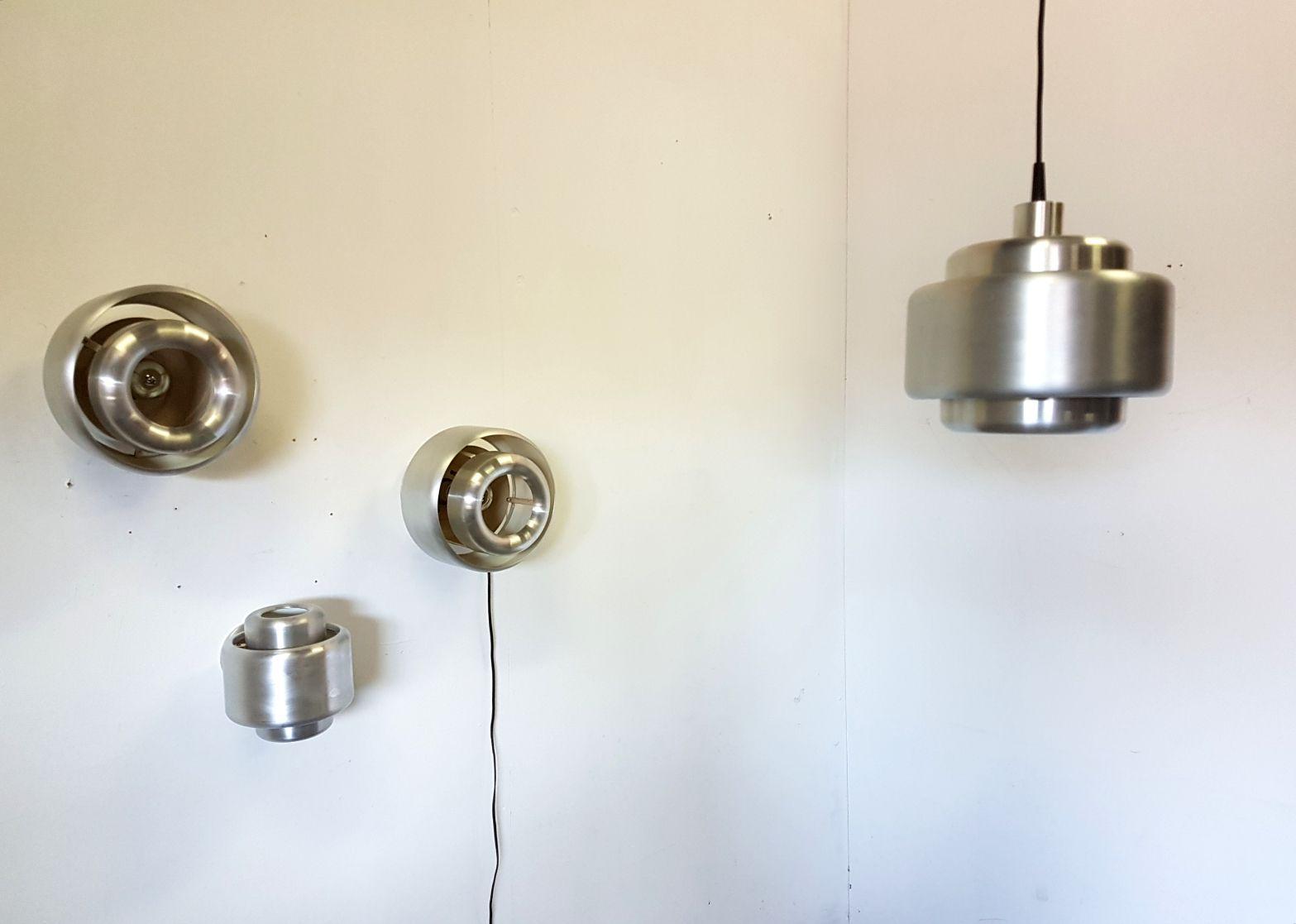 Aluminiumlampen von Philips, 1960er, 4er Set