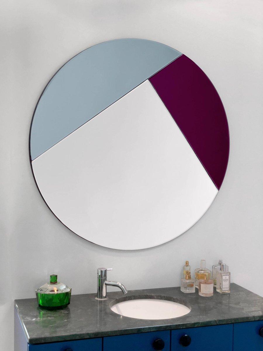 bunter nouveau spiegel von reflections copenhagen bei pamono kaufen. Black Bedroom Furniture Sets. Home Design Ideas
