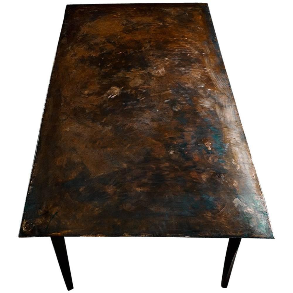 Tisch aus Edelstahl von Michael Gittings