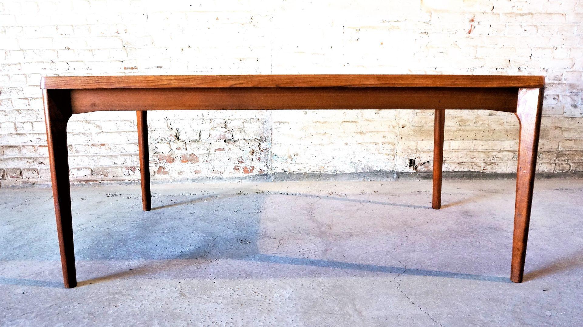 Large Vintage Teak Table By Henning Kjaernulf For Vejle