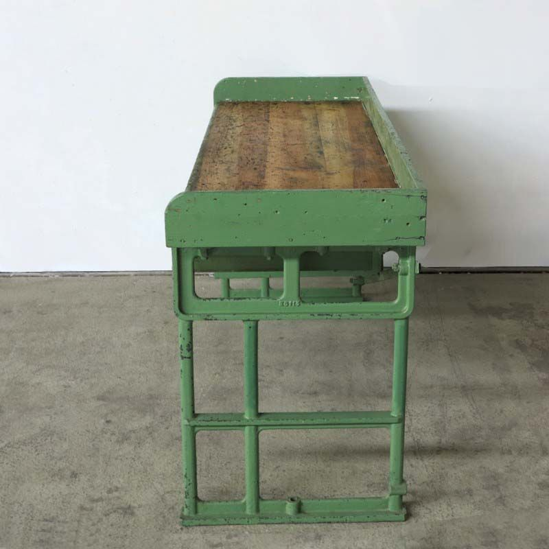Vintage Industrial Workbench with Cast-Iron Feet for sale at Pamono