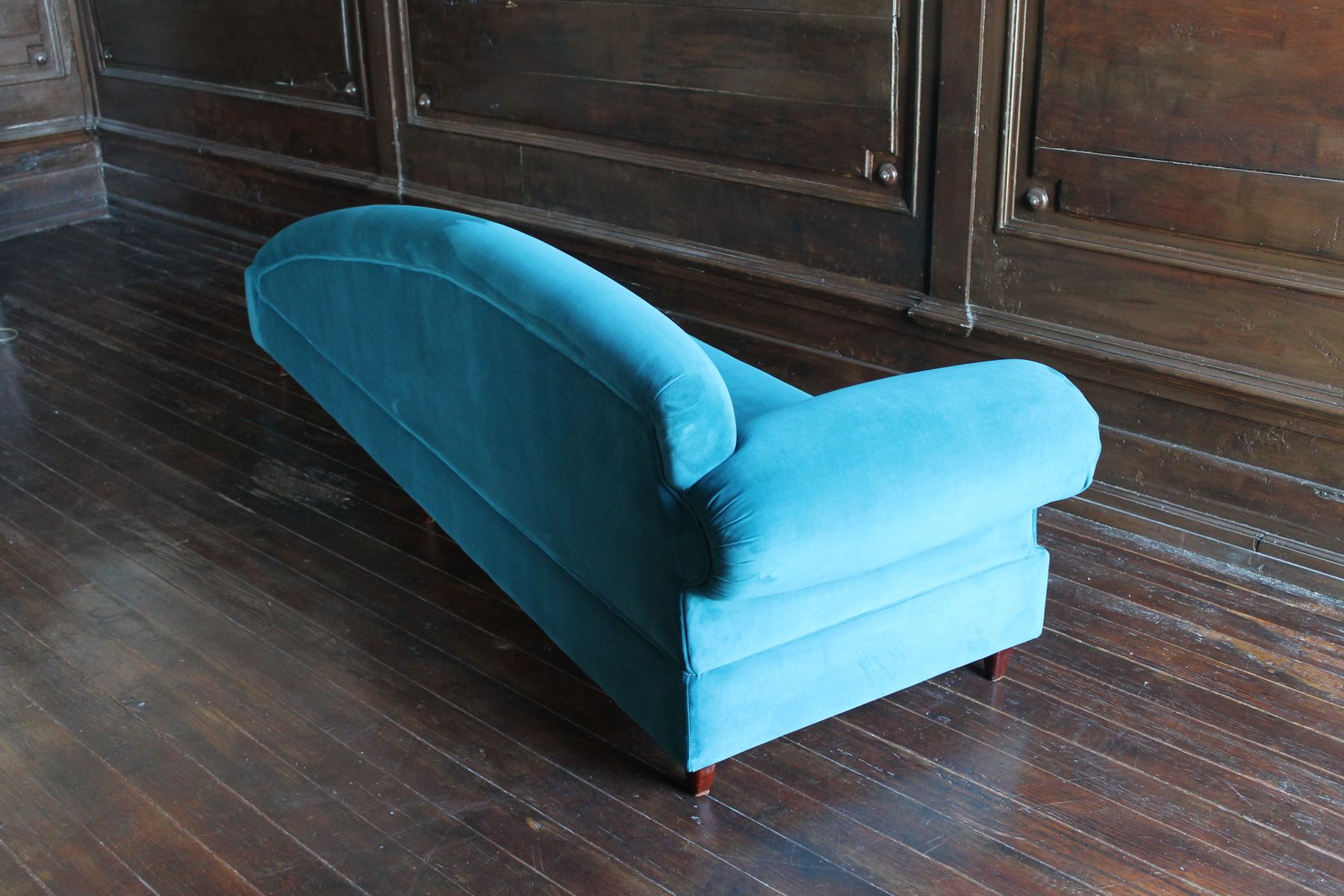 Blue Velvet Sofa Or Chaise Lounge 1970s For Sale At Pamono