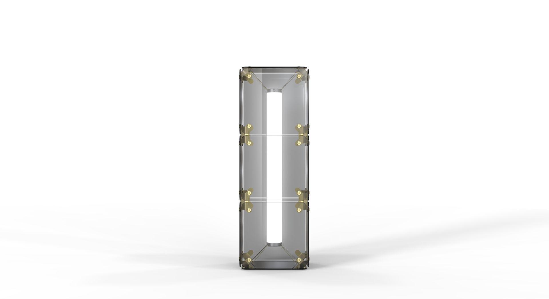 Hyperqube Stehlampe aus Glas mit 3 Modulen mit dimmbarer LED von Felix...