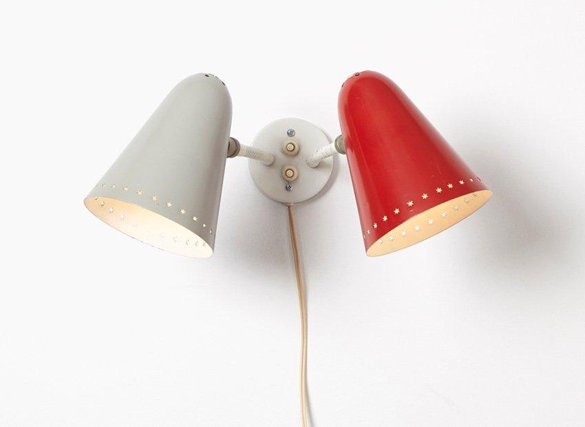 Wandlampe von H. Busquet für Hala, 1950er