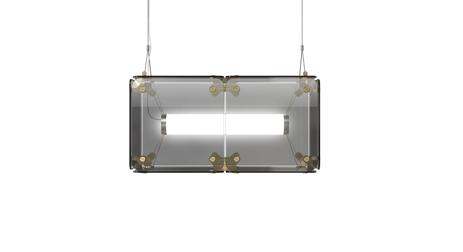 Hyperqube Hängelampe aus Glas mit 2 Modulen und dimmbarer LED von Feli...