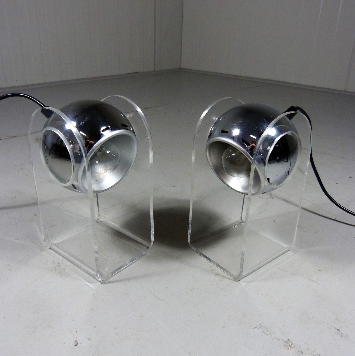 Modell 540 Tischlampen von Gino Sarfatti für Arteluce, 1968, 2er Set