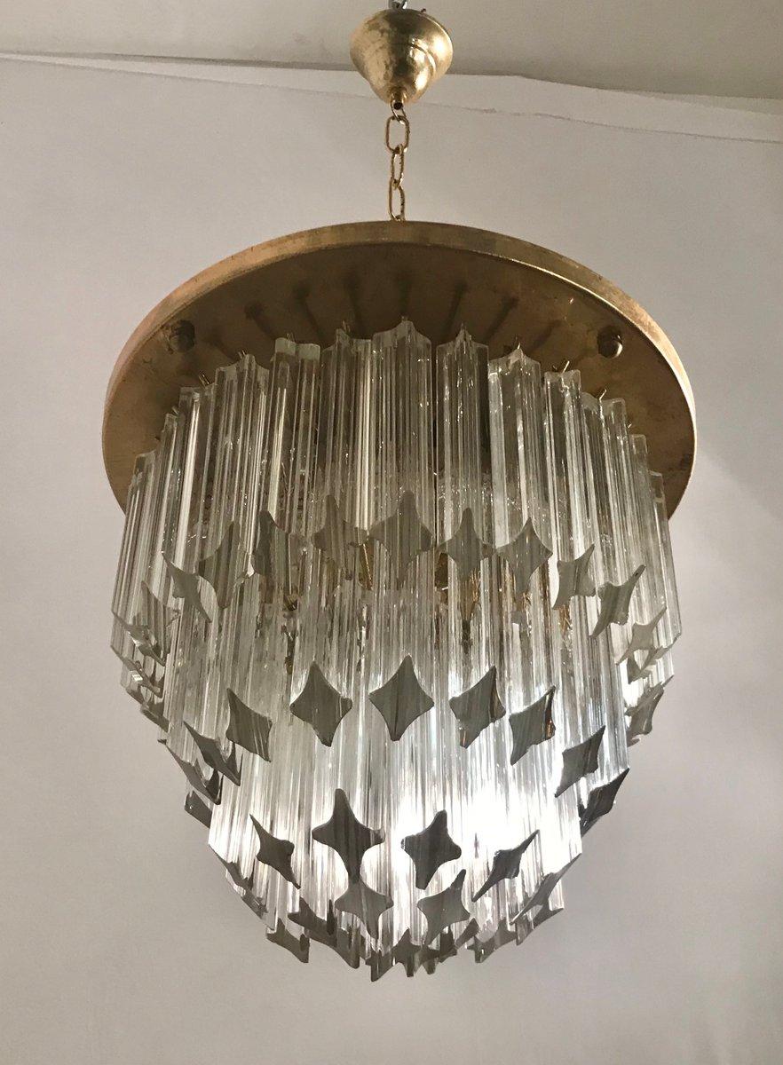 Mid-Century Prismen Kronleuchter aus Kristallglas von Paolo Venini, 19...