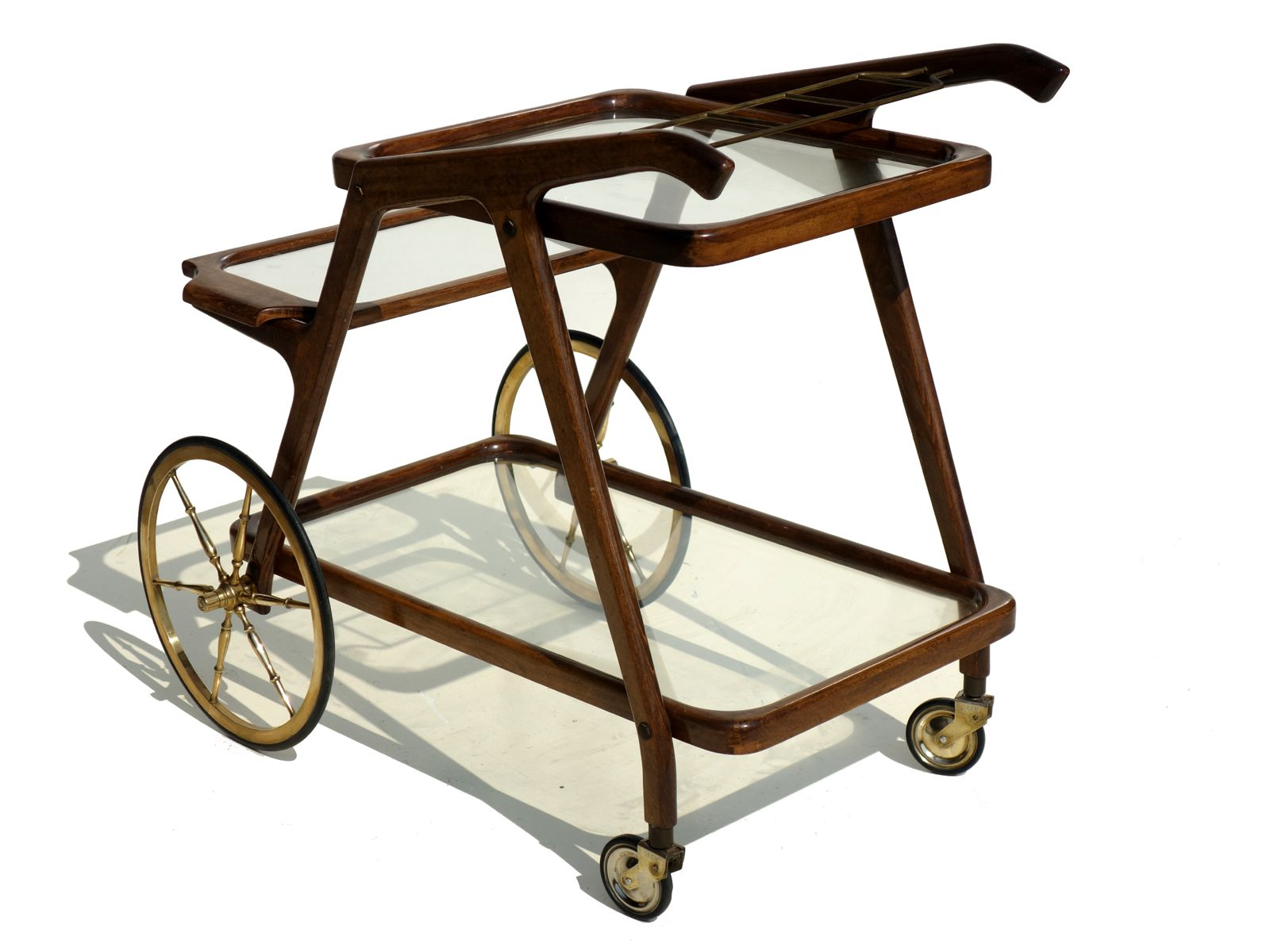 italian mid century bar cart trolley 1950s for sale at pamono. Black Bedroom Furniture Sets. Home Design Ideas