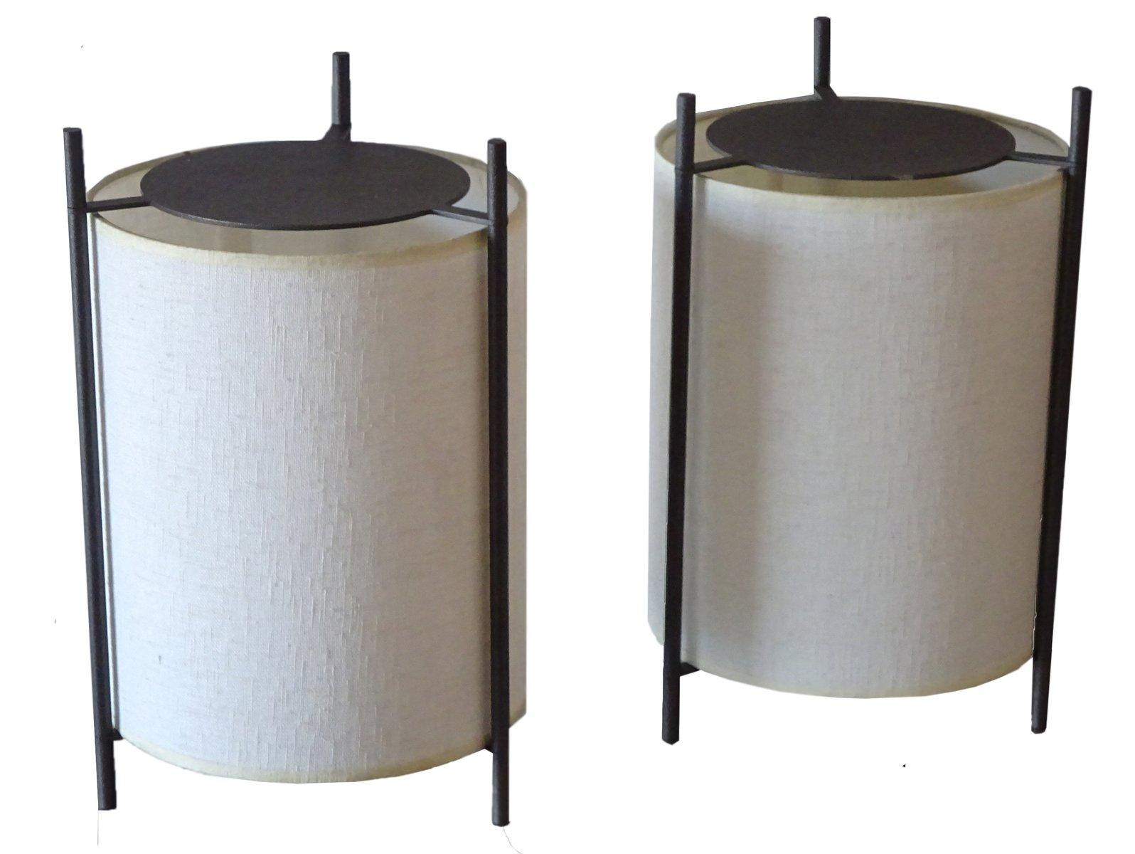 Französische Lampen mit Dreifuß, 1970er, 2er Set
