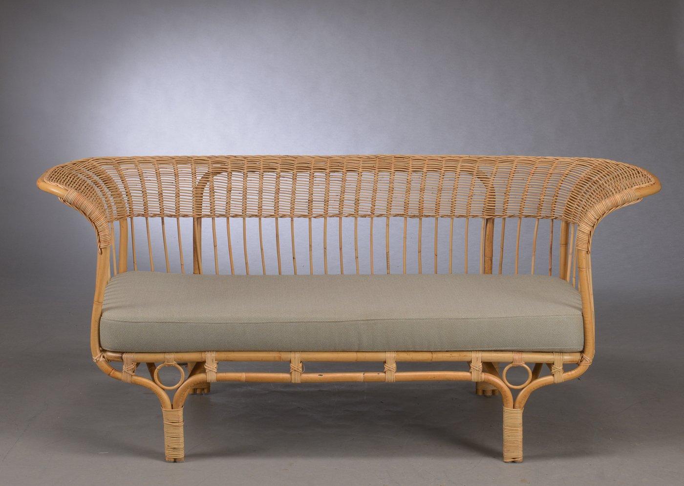 Belladonna Rattan Sofa By Franco Albini 1950s